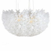 Dahlia Linear Chandelier Opaline  by Viz Glass