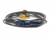 Erimish Black Iridescent Slinky Bracelet Pack - SPECIAL OFFER