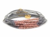 Erimish Black Rose Gold Slinky Bracelet Pack - SPECIAL OFFER