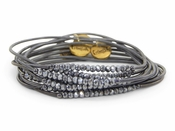 Erimish Black Silver Slinky Bracelet Pack - SPECIAL OFFER
