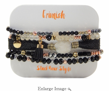 Erimish Druzy Black Bracelet Pack - SPECIAL OFFER