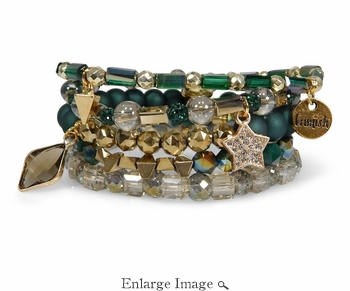 Erimish Green Star Bracelet Set - CLOSEOUT