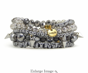 Erimish Silver Fox Bracelet Stack - SPECIAL OFFER