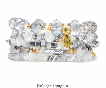 SOLD OUT Erimish Snowflake Bracelet Stack - CLOSEOUT