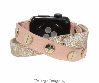 Erimish  Crisscross Baby Pink Apple Watch Band - SPECIAL OFFER