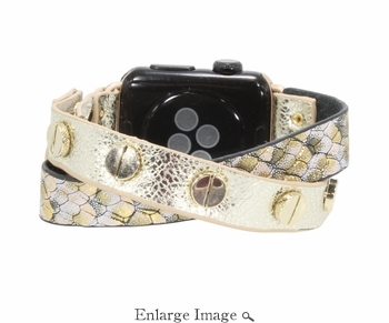 SOLD OUT Erimish  Crisscross Gold Purple Snake Apple Watch Band - SPECIAL OFFER