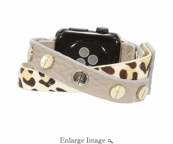 SOLD OUT Erimish  Crisscross Leopard Clay Apple Watch Band - SPECIAL OFFER