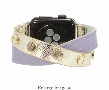 Erimish  Crisscross Lilac Gold Apple Watch Band - SPECIAL OFFER