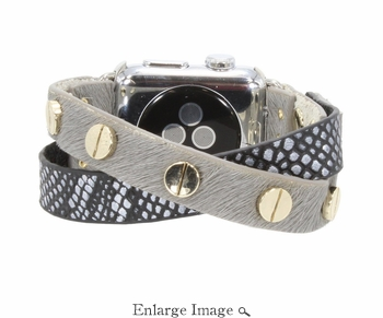 Erimsih Crisscross Shiny Silver Snake Apple Watch Band - Pre-Order Shipping Beginning of February - SPECIAL OFFER