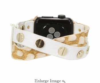 Erimish  Crisscross White Snake Apple Watch Band - SPECIAL OFFER