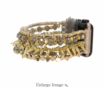 Erimish  Spike Gold Apple Watch Band - SPECIAL OFFER
