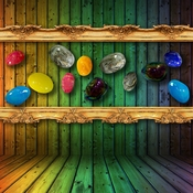 Viz Art Glass Color Stones Wall Art Collection