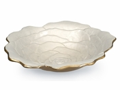 "Julia Knight Rose 15"" Bowl Gold Snow"