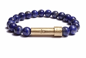 Womens Polished Lapis Lazuli Wishbeads Bracelet - SALE