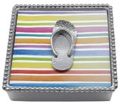 Mariposa Flip Flop Beaded Napkin Box - CLOSEOUT