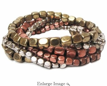 Marlyn Schiff Canyon 7 Strand Beaded Bracelet Set