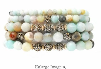 Marlyn Schiff Pacific Grove 5 Strand Stretch Bracelet Set