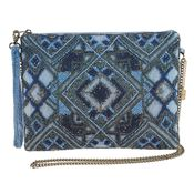 Mary Frances Bag Symmetry Blue