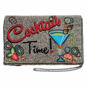 Mary Frances Cocktail Time Beaded and Embroidered Crossbody Clutch