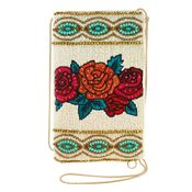 Mary Frances Frida's Flowers Crossbody Bag