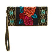Mary Frances Frida's Flowers Wallet / Wristlet