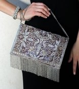 Mary Frances Roaring 20s Silver Bag