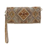 Mary Frances Symmetry Mocha Wallet / Wristlet