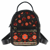 Mary Frances Viva La Noche Beaded-Embroidered Floral Mini Backpack