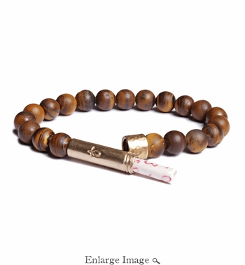 Mens Matte Tiger Eye Wishbeads Bracelet - SALE