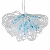 Orion Chandelier Aqua Small by Viz Glass