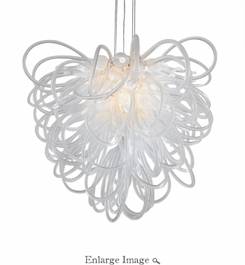 Orion Chandelier Clear Large by Viz Glass