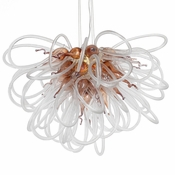 Orion Chandelier Copper Small by Viz Glass