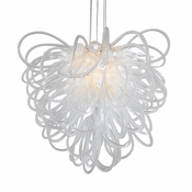Orion Chandelier Opaline Large by Viz Glass