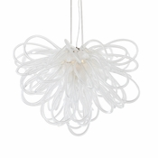 Orion Chandelier Opaline Mini by Viz Glass