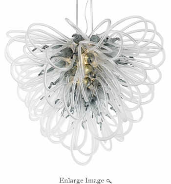 Orion Chandelier Smoke Large by Viz Glass