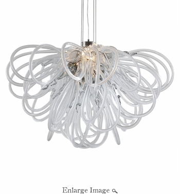 Orion Chandelier Smoke Mini by Viz Glass