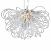 Orion Chandelier Smoke Small by Viz Glass