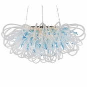 Orion Linear Chandelier Aqua by Viz Glass