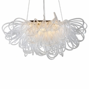 Orion Linear Chandelier Clear by Viz Glass
