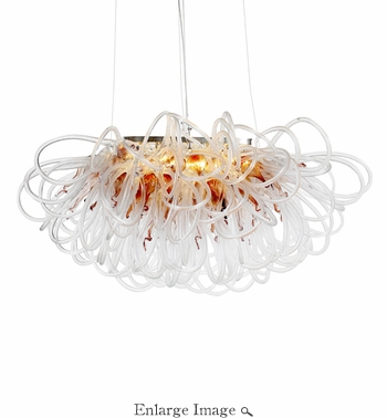 Orion Linear Chandelier Copper by Viz Glass