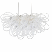 Orion Linear Chandelier Opaline by Viz Glass