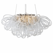 Orion Linear Chandelier Smoke by Viz Glass