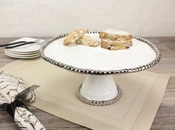 Porcelain Salerno Footed Cake Stand