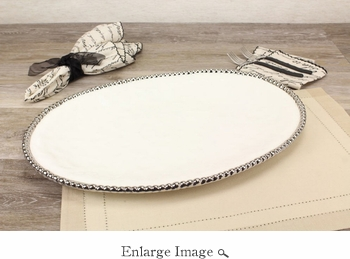 Porcelain Salerno Large Oval Platter