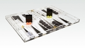 Tizo Acrylic Backgammon Set Black & Clear