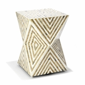 Tozai Home Arrows Inlay Stool/Side Table
