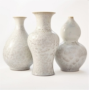Tozai Home Set of 3 Mother Of Pearl Vases