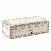 Tozai Home Hand-Carved & Painted Bone Chest