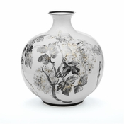 Tozai Home Large Hand Painted Floral Jar