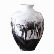 Tozai Home Large Hand Painted Horse Jar